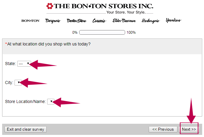 Bonton Survey Step 2