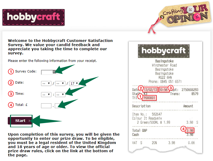 Hobby Craft Survey Guide Step 2