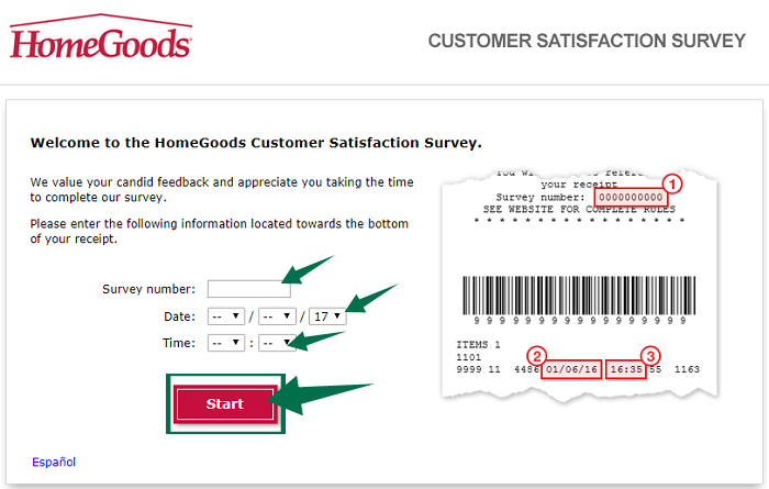 HomeGoods Survey