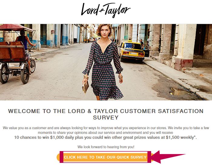 Lord and Taylor Survey Step 1