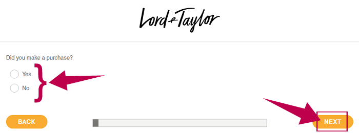 Lord and Taylor Survey Step 2