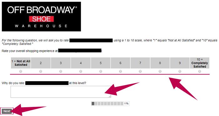Off Broadway Survey Step 2