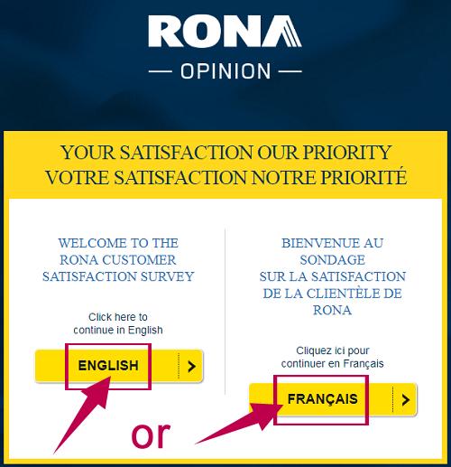 Rona Survey Guide Step 1