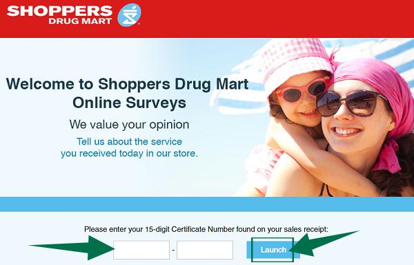Shoppers Drug Mart Survey Step 2