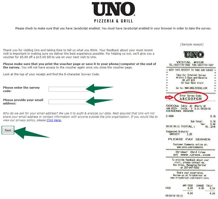 Uno Survey Guide Step 2