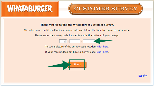 Whataburger Survey Guide
