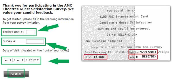 amc survey landing page