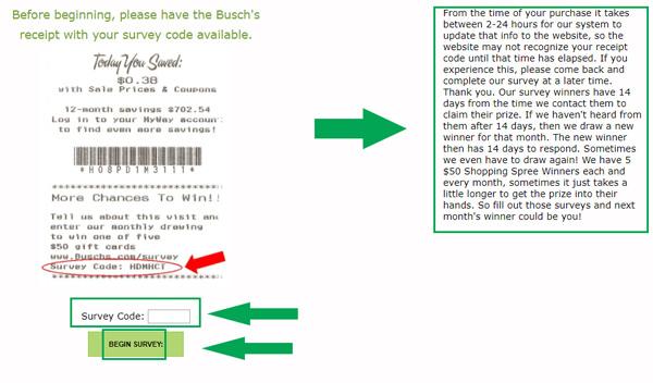 step one of buschs survey