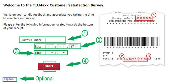 tjmaxx survey landing page